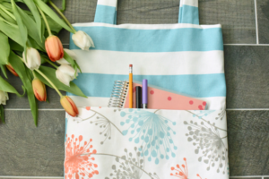 Easy sewing projects to make for baby tote bag with pocket