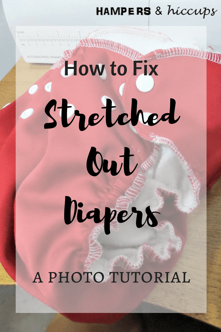 Photo tutorial for fixing diaper elastics on cloth diapers. Anyone who has used cloth diapers, second hand or new, knows that eventually the elastics wear from washing and drying. Here's a great photo tutorial on how to easily replace diaper elastics yourself! No need to hire someone. Save money and DIY by replacing the worn out elastics at home.