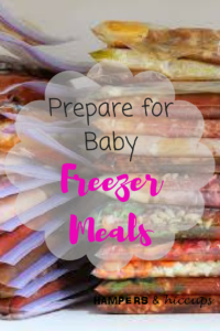 In my constant battle to get ahead for the arrival of our new baby, I've put together a list of easy freezer meals to prepare while nesting. Stock your freezer so you don't have to cook or grocery shop when that new baby comes home! Get ahead for the next busy time in your life. Or just have some meals in the freezer for those evenings when you really don't feel like cooking. Working mom? Even better reason to make a day of prepping some meals. Here's a nice list of some freezer meal ideas, as well as a few tips to make everything go smoothly for you. Enjoy your supper even more when you don't have to slave away all day to eat it! One afternoon can yield over 20 meals! Make extra when you're cooking up your favourites to throw in the freezer for an effortless meal prep. hampersandhiccups.com. homemaking. food. lifestyle. cooking. freezer meals. meal prep. meal planning