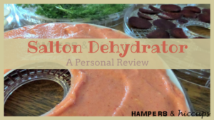 My personal review of the Salton DH1454 Collapsible Dehydrator. #dehydrate your garden produce + other goods. Create yummy #healthy #snacks. #Preserve #herbs #vegetables #fruit #meat. #inexpensive way to start your dehydrating journey. Learn what I #love and what I don't. Plus some tips for any #dehydrator, as well as a #free #mealplan. #hampersandhiccups #food #family