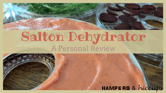 A Busy Mom's Review of the Salton Dehydrator