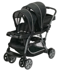 Graco double stroller review Ready2Grow black onyx stroller