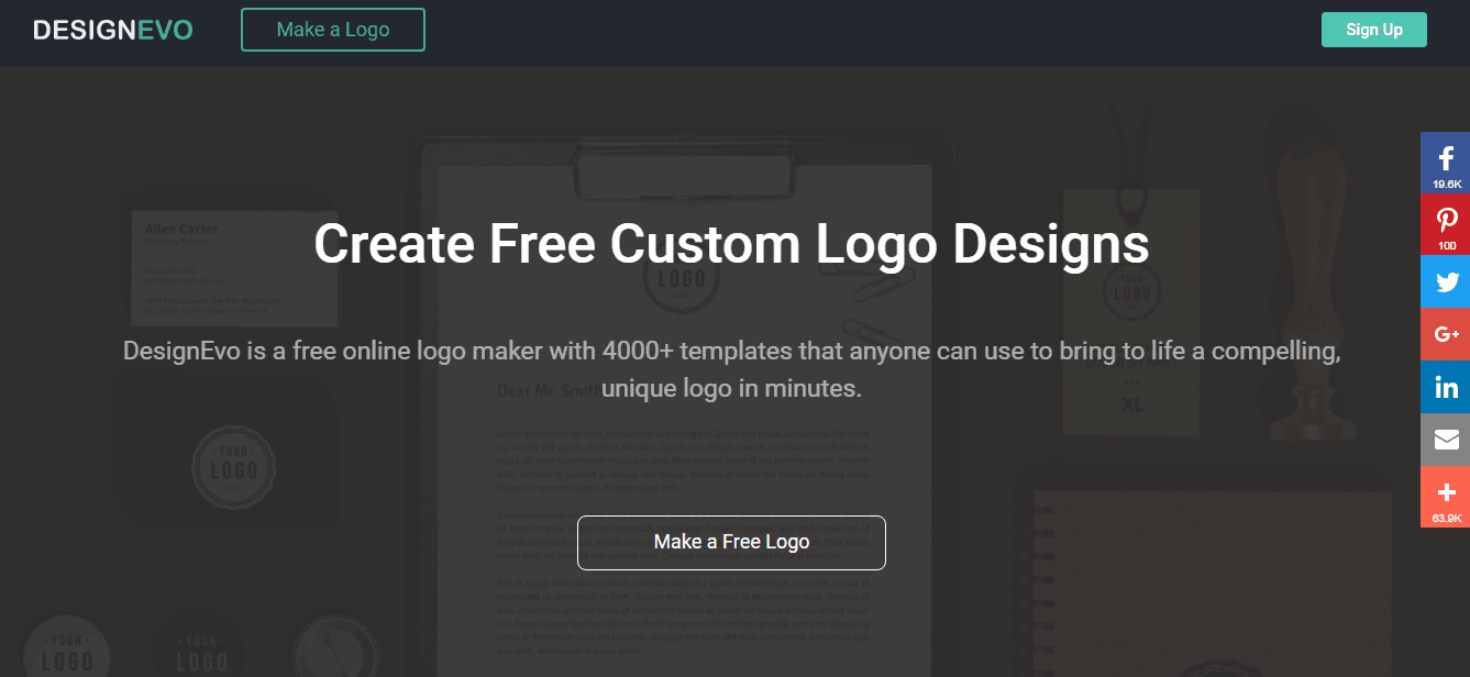 how to create a professional logo for free with designevo. if you're looking to make a new logo for your business, look no further than DesignEvo. And not just for companies, either. Use it to make a graphic for your personal letterhead, address labels, wedding invitations, t-shirt designs or pretty much anything else you can think of. Get started now for free