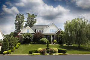Home inspections home with well landscaped yard needs a home inspection