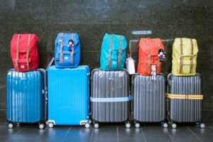 Pests in your home - evacuate - family luggage packed and waiting to leave