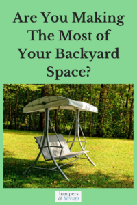 Are You Making The Most of Your Backyard Space? covered yard bench swing hampersandhiccups