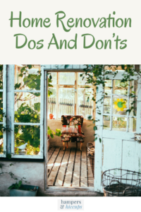 Home Renovation Dos And Don'ts door open to a sunroom porch three season room hamperandhiccups