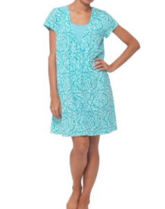 My favorite nursing nightgown teal night dress