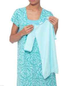 My favorite nursing nightgown teal maternity gown and coordinating baby gown