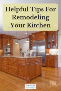 Helpful Tips For Remodeling Your Kitchen a newly remodeled kitchen hampersandhiccups