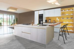 Aesthetic Appearance of your home example of home decor kitchen yellow accent wall neutral beige walls cluster lighting