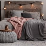 stylish bed with headboard