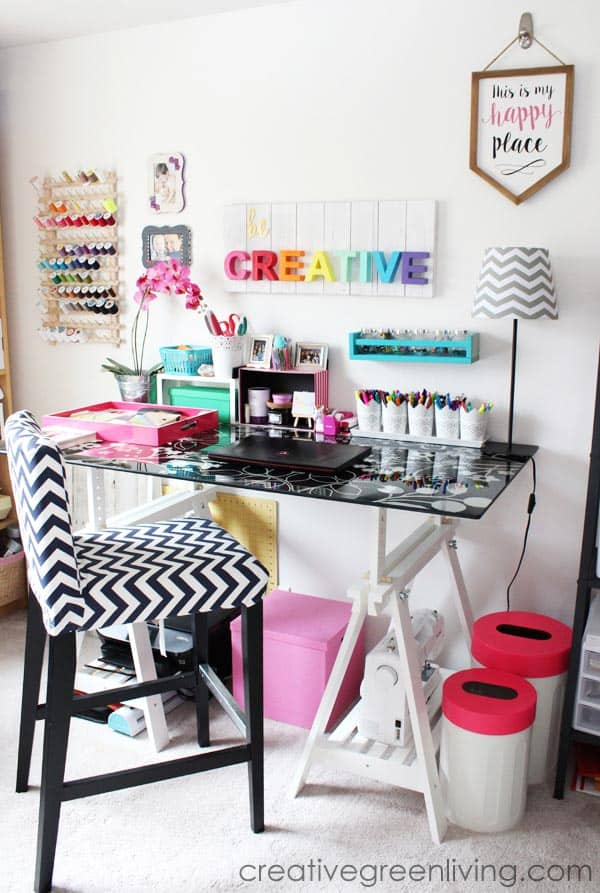 vibrant-sewing-room