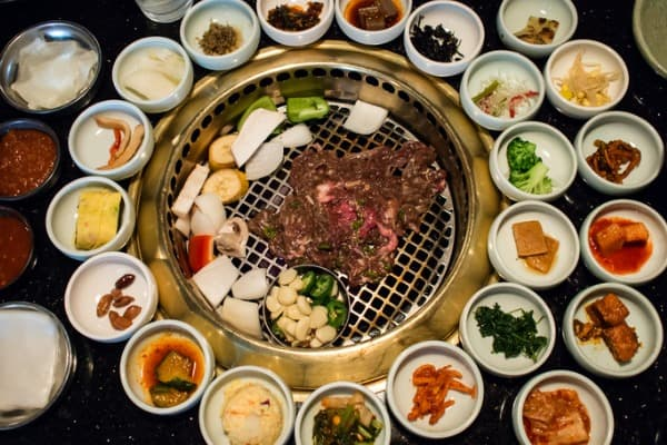 korean-bbq-with-full-side-dishes