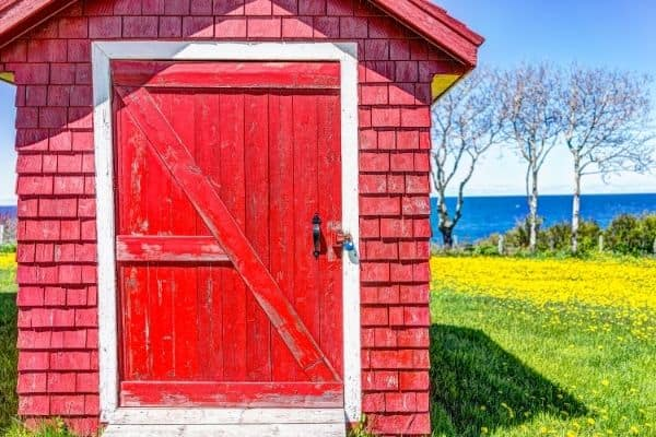 Classic Red Garden Shed