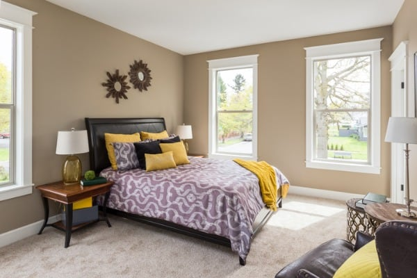 master bedroom in new home