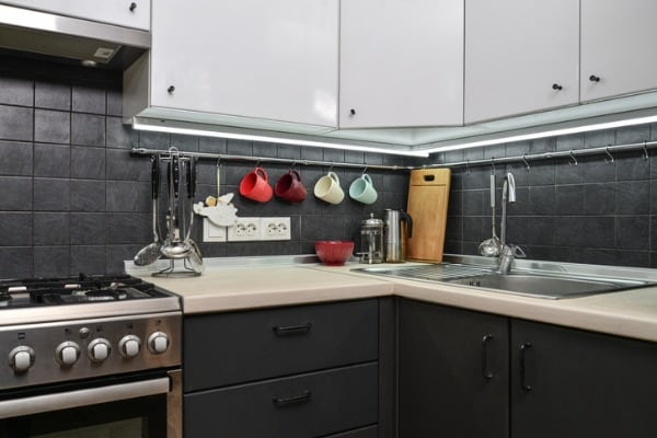 fragment of the modern style kitchen