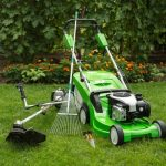 outdoor shot of garden equipment