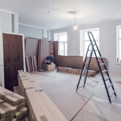 interior of apartment during construction remodeling renovation