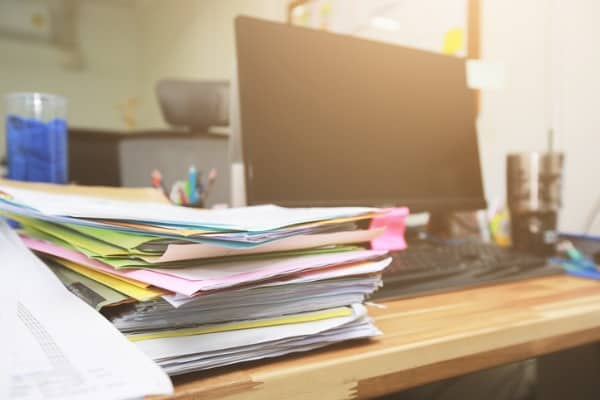 removing clutter to make your home office comfortable